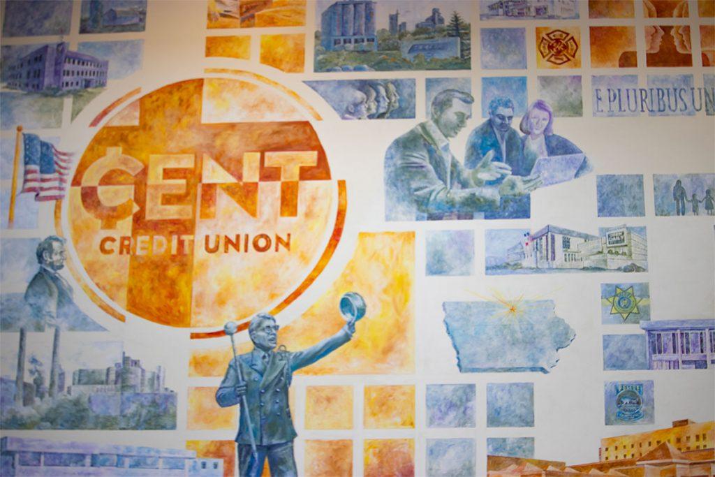 CENT wall mural